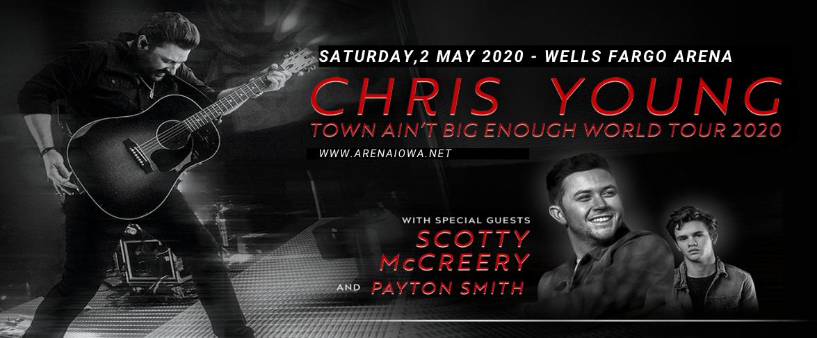 Chris Young, Scotty McCreery & Payton Smith at Wells Fargo Arena