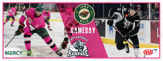 Iowa Wild vs. San Antonio Rampage [CANCELLED] at Wells Fargo Arena