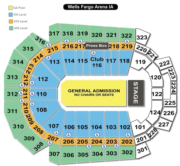 Wells Fargo Arena Seating Chart Concert