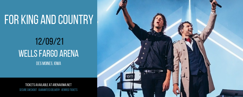 For King and Country at Wells Fargo Arena